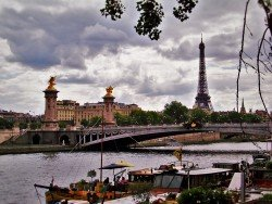 Eiffel Tower from Pont Alexandre 3