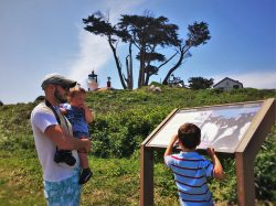 Rob Taylor and Kids at Battery Point Lighthouse Crescent City