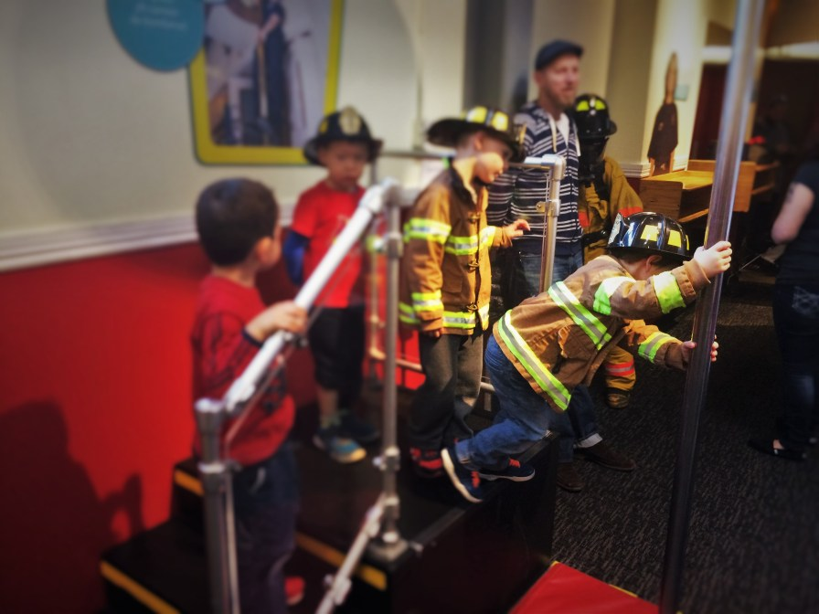 Kids in Costume and Fire Pole at Fire Station No 1 at Childrens Museum of Denver 1