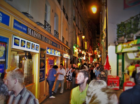 Latin Quarter Paris at Night 1