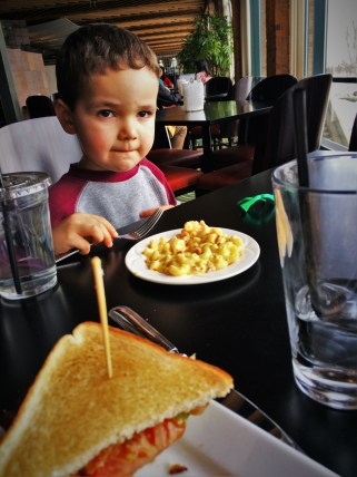 LittleMan and Lunch at Fireside Lounge at Inverness Hotel Denver Colorado 1