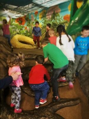 LittleMan climbing in backyard area at Childrens Museum of Denver 1