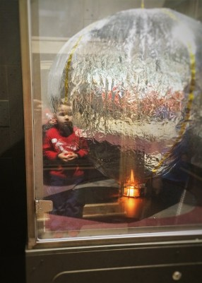 LittleMan learning about heat exchange at Childrens Museum of Denver 1