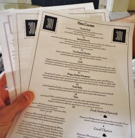 Menus at Restaurant 301 at Carter House Inn Eureka 1