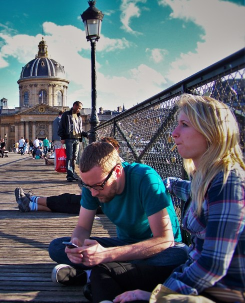 Taylor Friends on Pont des Arts Paris 1
