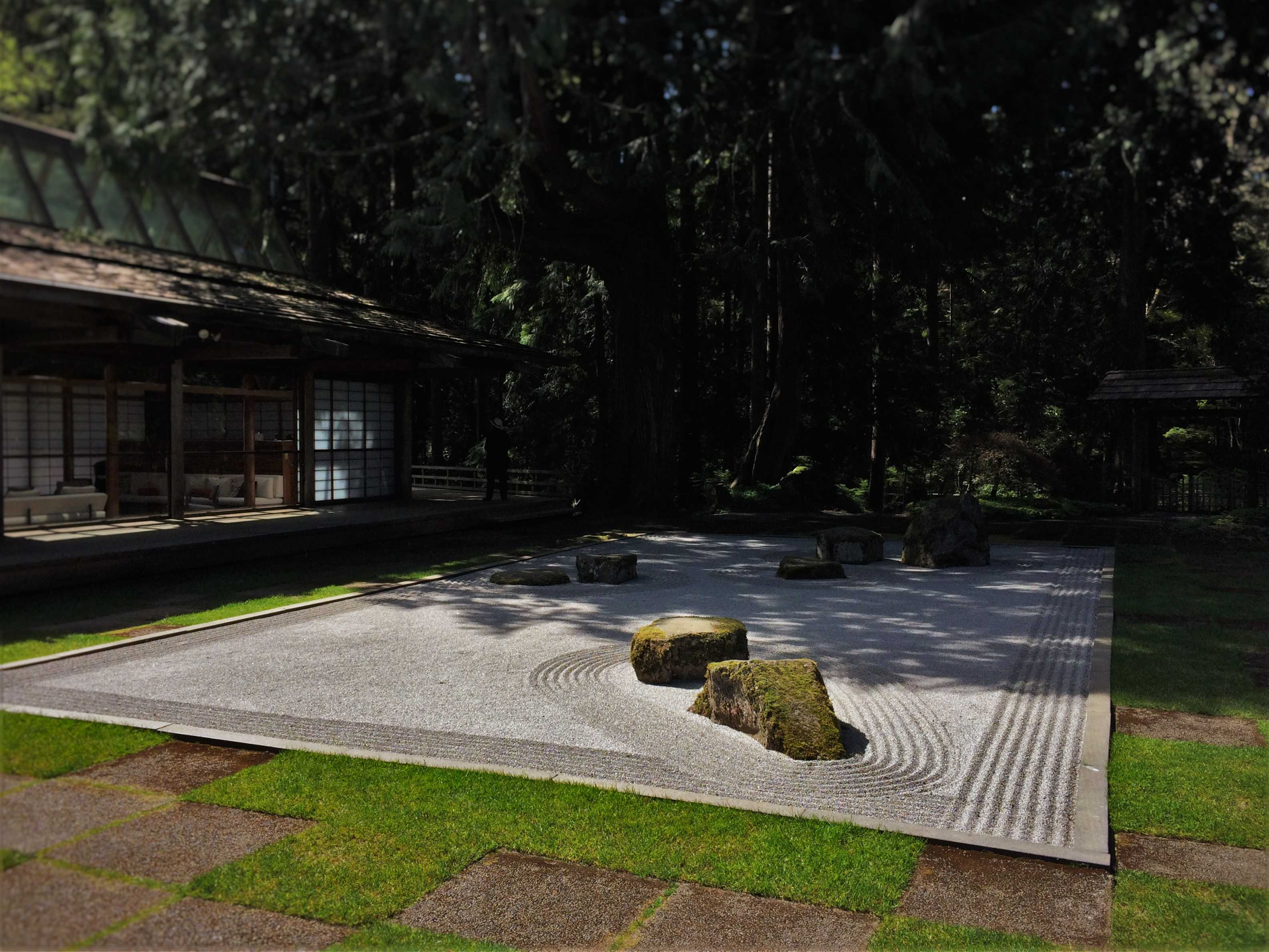 Zen Garden In Japanese Garden At Bloedel Reserve Bainbridge Island 1