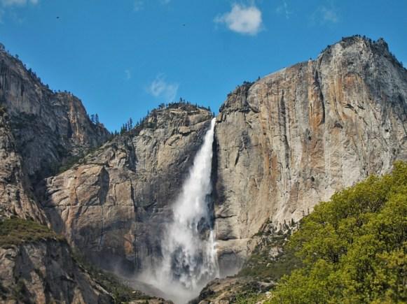 Bridal Veil Falls from Valley Floor in Yosemite National Park 2traveldads.com