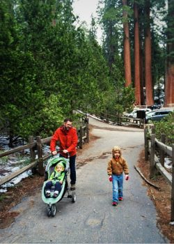 Chris Taylor and dudes in Grant Grove Kings Canyon 2traveldads.com