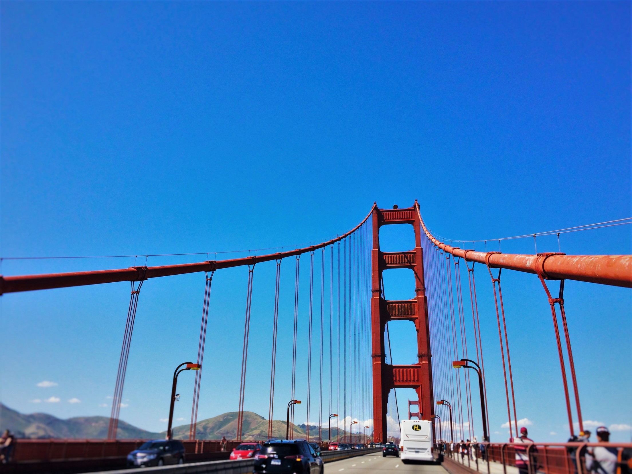 Crossing the Golden Gate Bridge from Welcome Center GGNRA 1