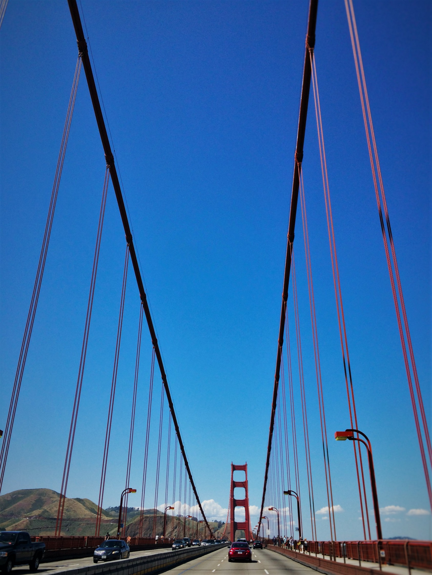 Crossing the Golden Gate Bridge from Welcome Center GGNRA 3