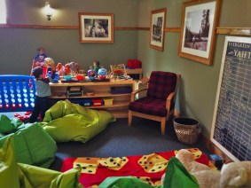 Game room at Evergreen Lodge at Yosemite National Park 1