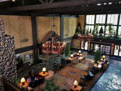 Grand Lobby at Tenaya Lodge Yosemite 2traveldads.com