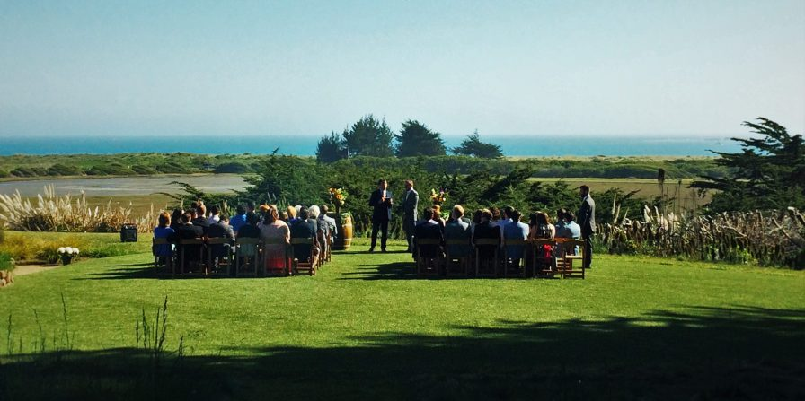 Bodega Bay Wedding on law at Bodega Bay Lodge
