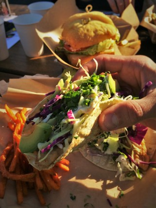 Fish Tacos at Fishertarian Bodega Bay