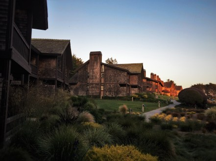 Bodega Bay Lodge exterior sunset 2