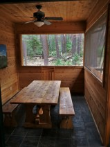 Outdoor dining room at John Muir House at Evergreen Lodge at Yosemite National Park 1