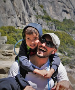 Rob Taylor and LittleMan hiking at Hetch Hetchy Yosemite National Park 4
