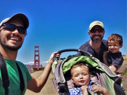 Taylor Family and Golden Gate Bridge from Welcome Center GGNRA 1