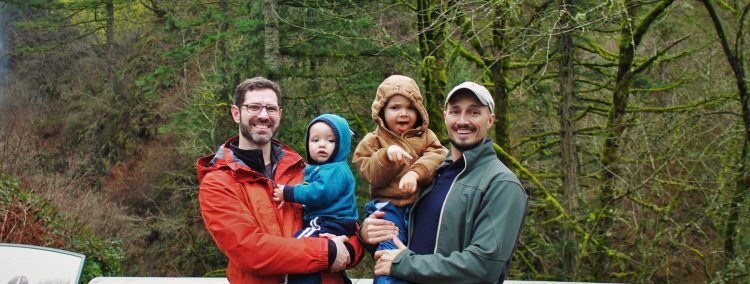 Taylor Family at Latourell Falls Waterfall Area Oregon 1