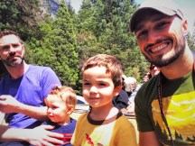 Taylor Family on tram tour of Yosemite Valley Floor in Yosemite National Park 2