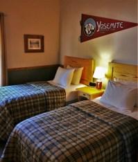 Twin Room at Family Cabin at Evergreen Lodge at Yosemite National Park 1