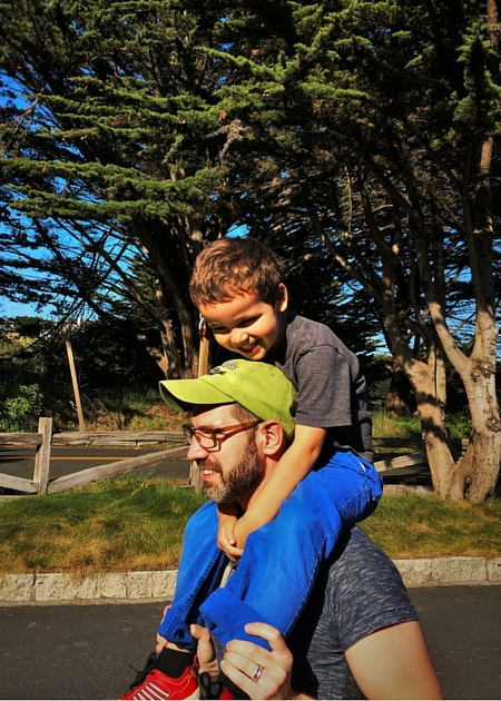 Chris Taylor and LittleMan at Bodega Bay Lodge 1