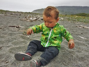 TinyMan on Beach at Redwood National Park Visitors Center