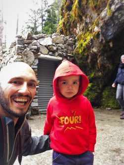 Rob Taylor and LittleMan at Oregon Caves National Monument