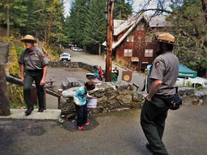 LittleMan doing Junior Ranger Program at Oregon Caves National Monument