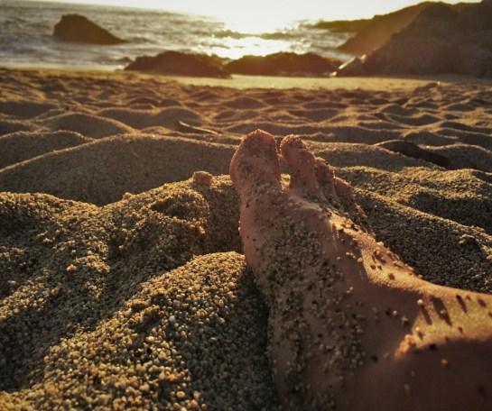 Sandy feet at Bodega Bay 2traveldads.com