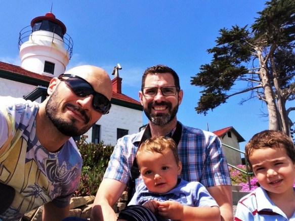 Taylor Family at Battery Point Lighthouse Crescent City 1