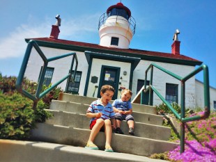 Taylor Kids at Battery Point Lighthouse Crescent City 2