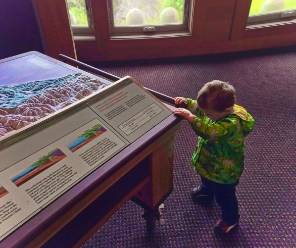 TinyMan at Visitors Center in Redwood National Park California 2traveldads.com