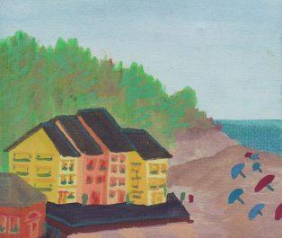 Watercolor of The Beach of Deiva Marina by Rob Taylor
