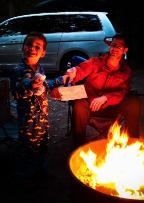Chris Taylor and LittleMan at Campfire Washington Park Anacortes 1