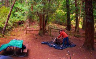 Chris Taylor camping at Washington Park Anacortes 1