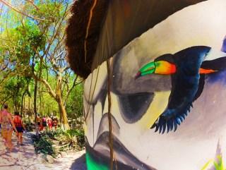 Toucan Mural at Cenotes Dos Ojos Playa del Carmen Mexico