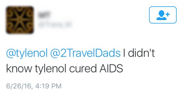 Mean tweet Tylenol HowWeFamily 1