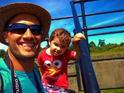 Rob Taylor and LittleMan at Bunkers at Fort Casey Whidbey Island 1e