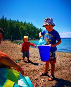 Taylor Family at beach at Washington Park Anacortes 1