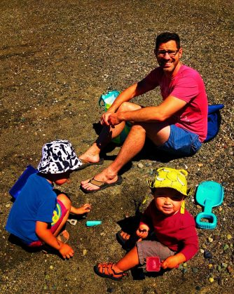 Taylor Family at beach at Washington Park Anacortes 2