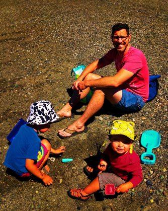 Taylor Family at beach at Washington Park Anacortes 2