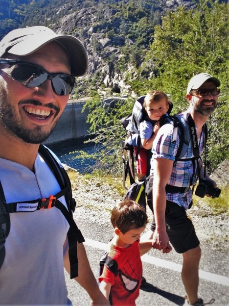 Taylor Family hiking at Hetch Hetchy Yosemite National Park 7