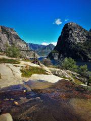 Water Flowing across granite at Hetch Hetchy Yosemite National Park 5