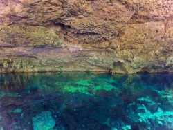 Crystal Blue Water Inside Mouth of Cenotes Dos Ojos Playa del Carmen Mexico