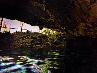 Inside Mouth of Cenotes Dos Ojos Playa del Carmen Mexico