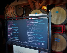 Wine Barrels at Family Friendly Wine Tasting at AniChe Cellars Underwood Columbia River Gorge 3