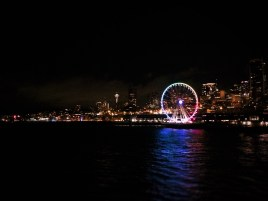 Great Wheel on Seattle Waterfront at night
