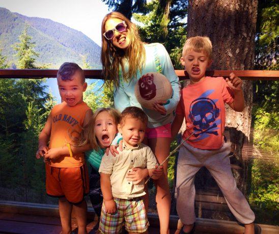 Taylor Kids at Family Reunion at Lake Cushman HowWeFamily