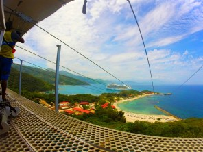 Launch platform for Worlds Longest Zip Line Labadee Haiti 1